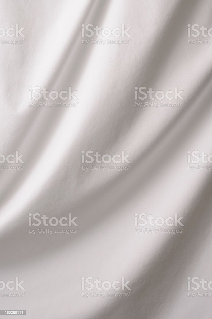Elegant white drape texture background stock photo