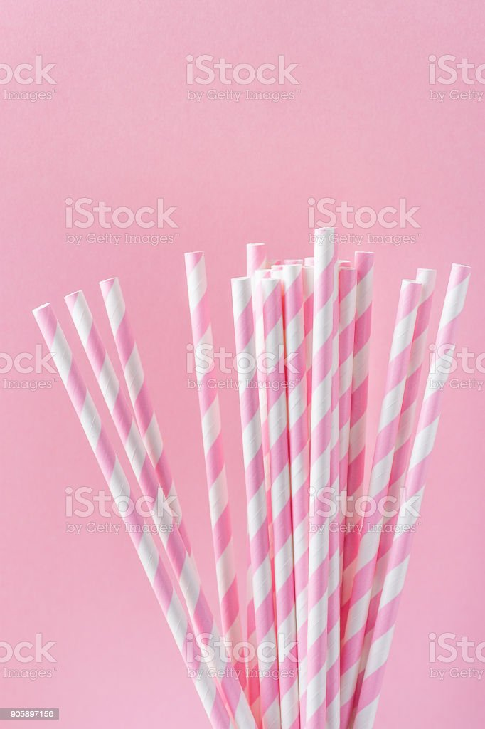 Light pink and silver paper straws vintage weddings pink elephant party bridal showers baby shower pink straws Vintage pink and silver