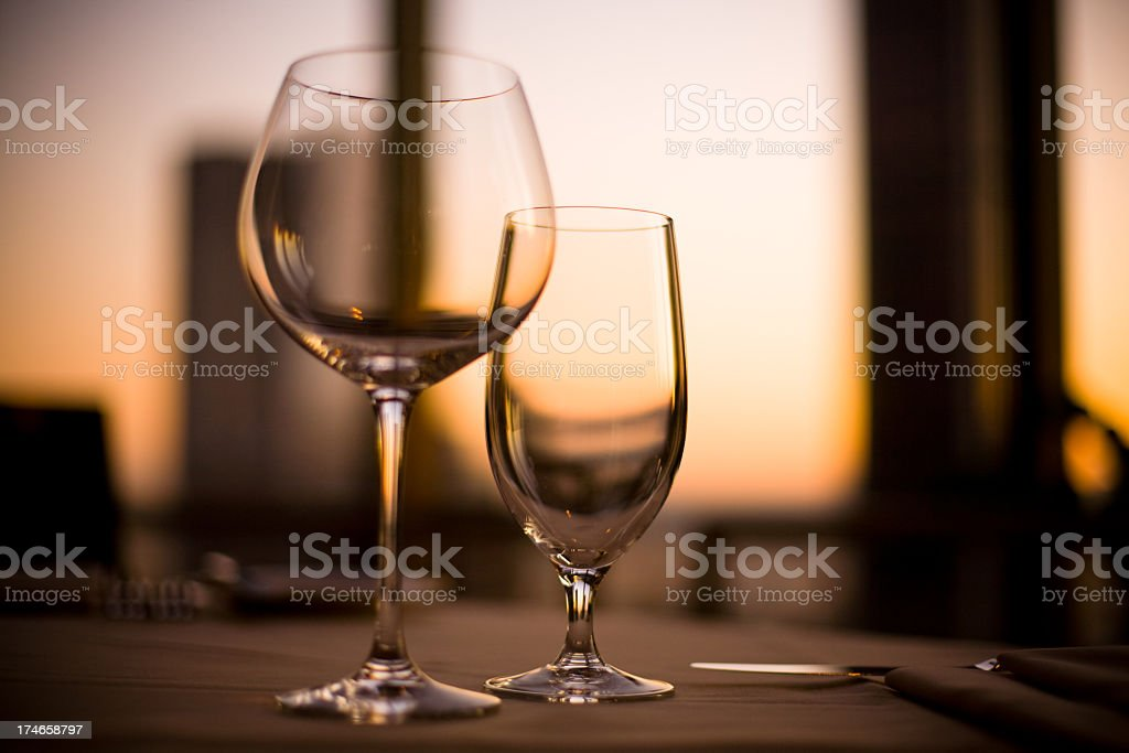 Elegant wine glasses royalty-free stock photo