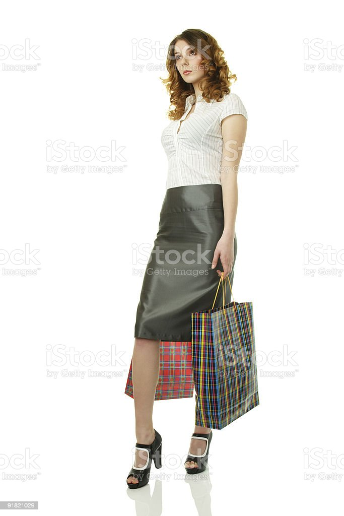 Elegant woman at shopping royalty-free stock photo