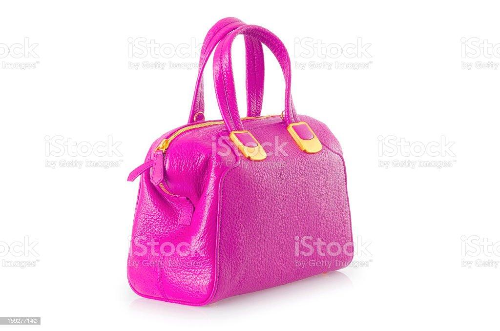Elegant woman bag isolated on white royalty-free stock photo