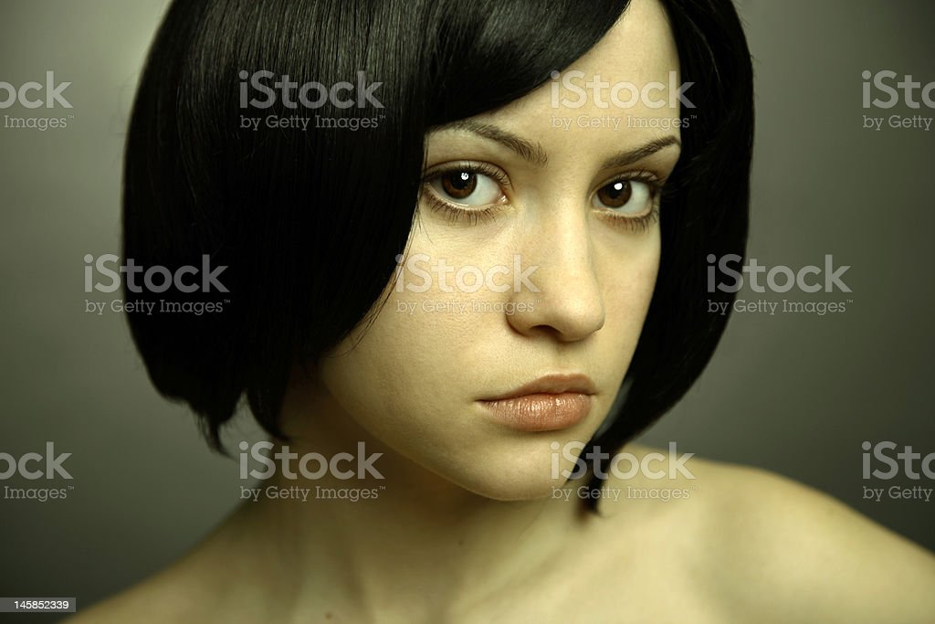 Elegant woman on dark background royalty-free stock photo