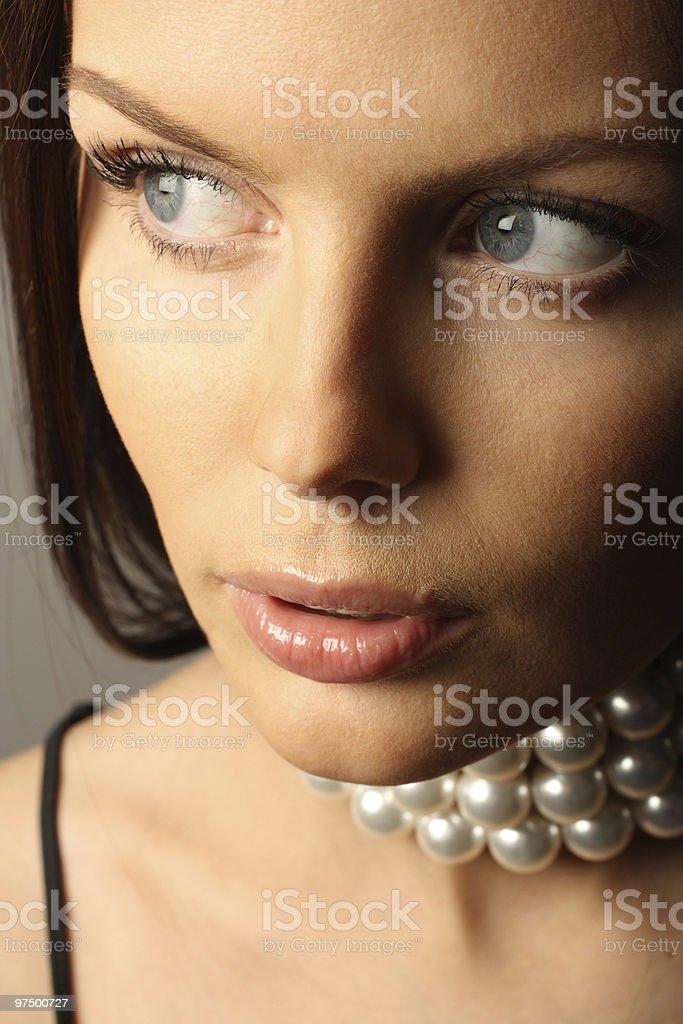 Elegant woman portrait. royalty-free stock photo