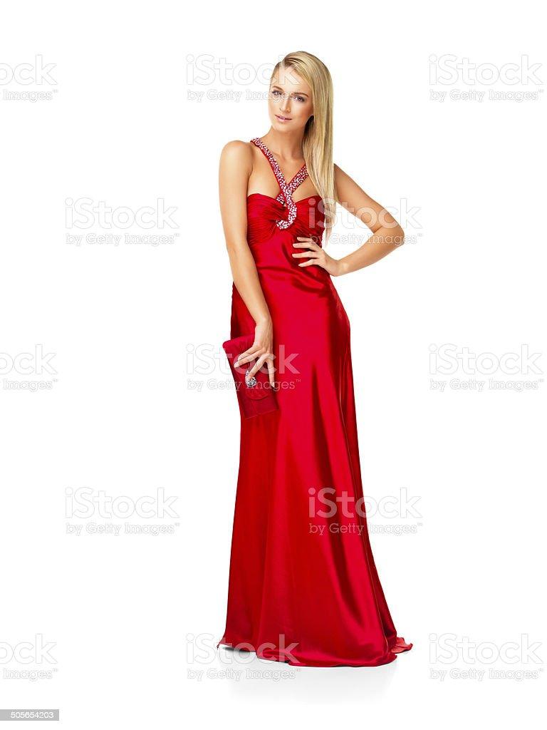 a7fc45b2a4 Poses De Mujer Elegante Vestido De Noche Foto de stock y más banco ...