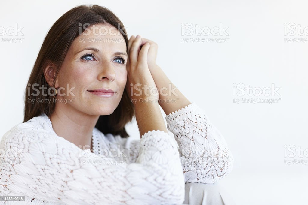 Elegant woman relaxing at home royalty-free stock photo