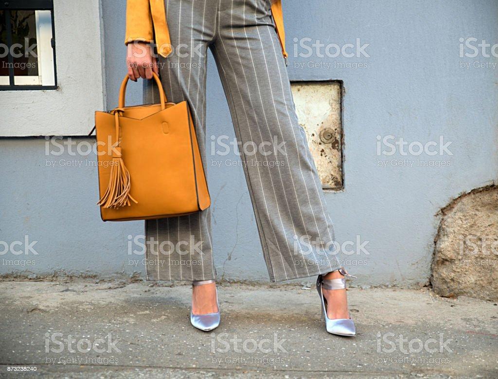 Elegant woman wearing high heels stock photo
