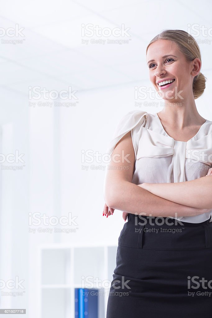 Elegant women at office interior foto stock royalty-free
