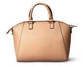 Elegant women beige bag rear view