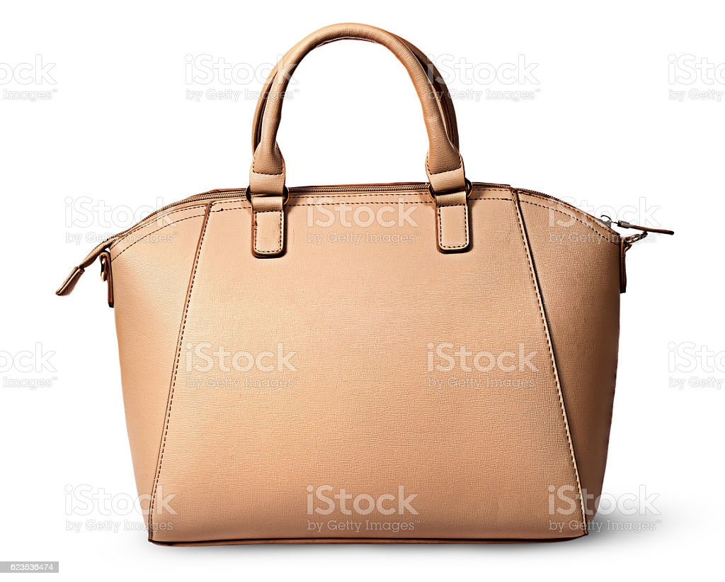Elegant women beige bag rear view - foto de stock