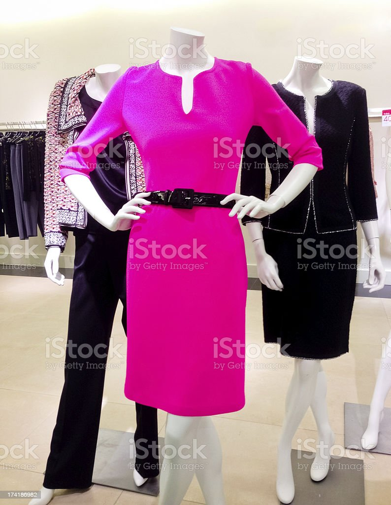 Elegant women  clothing for sale in a store royalty-free stock photo