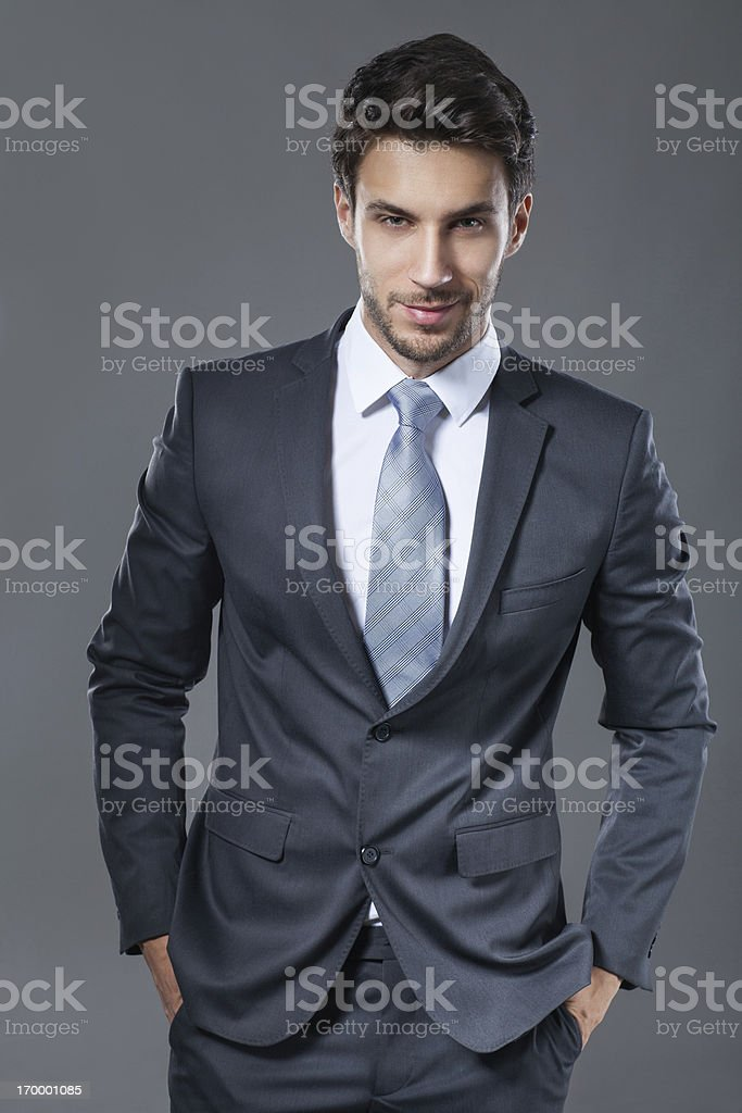Elegant young businessman stock photo