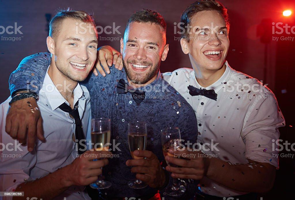 Elegant young men stock photo