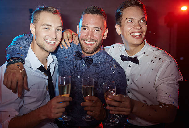 Elegant young men stock photo