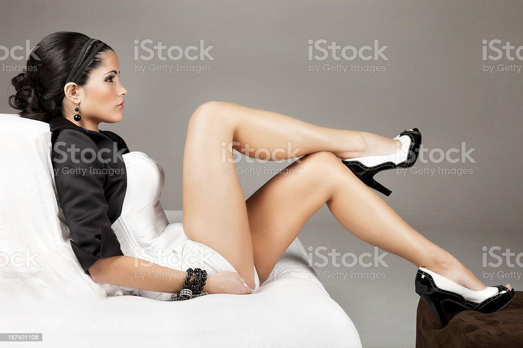 Elegantly Beautiful Latin Woman stock photo