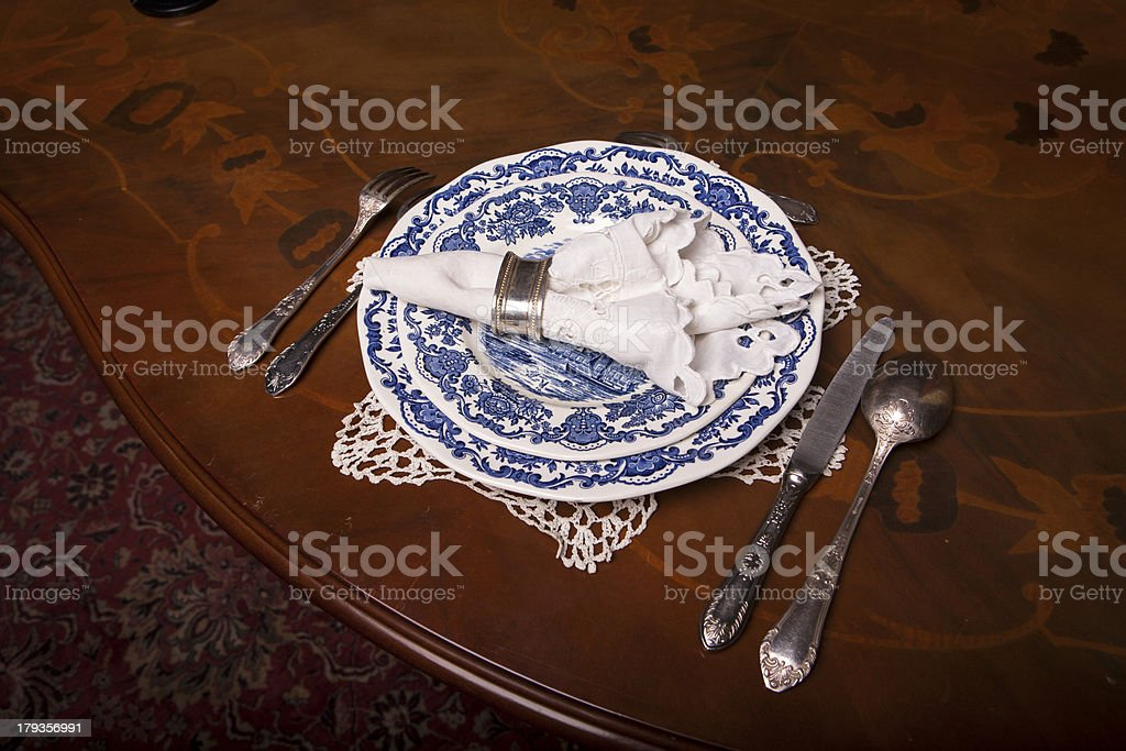Elegantly covered the table royalty-free stock photo