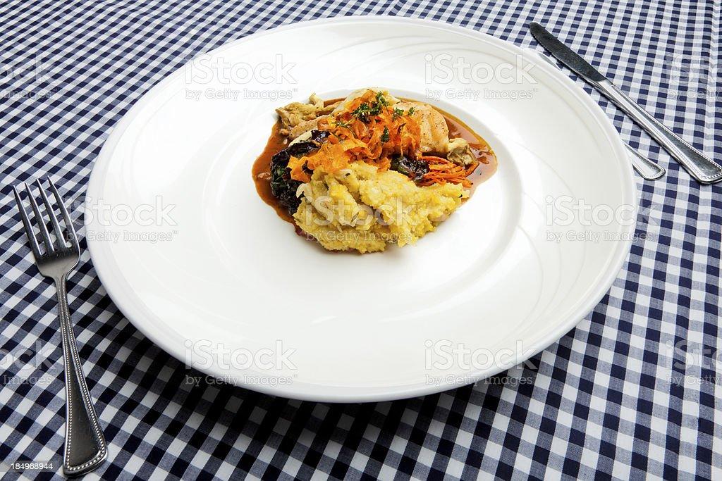 Elegent baked chicken dinner royalty-free stock photo