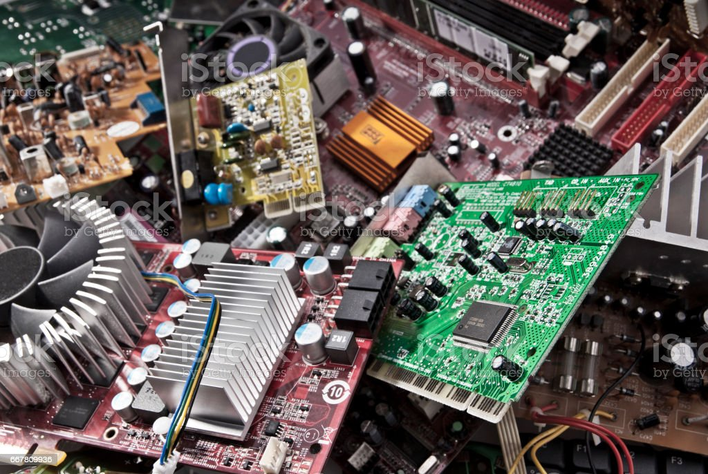 Elektronikschrott stock photo