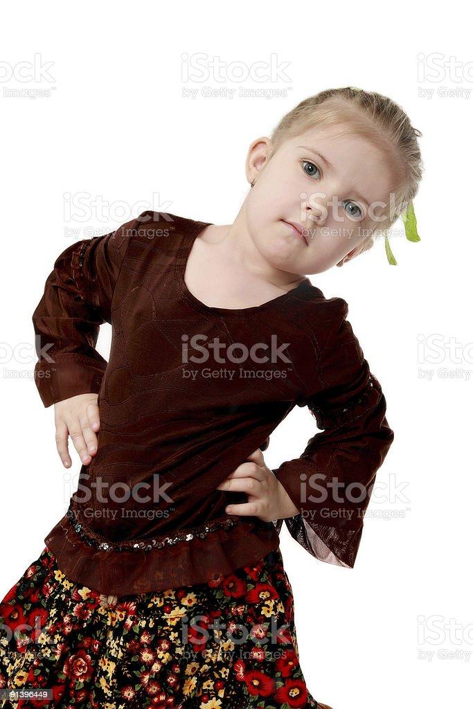 Element of children's dance stock photo