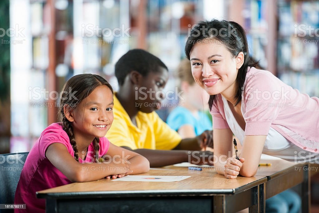 Elementary Class royalty-free stock photo