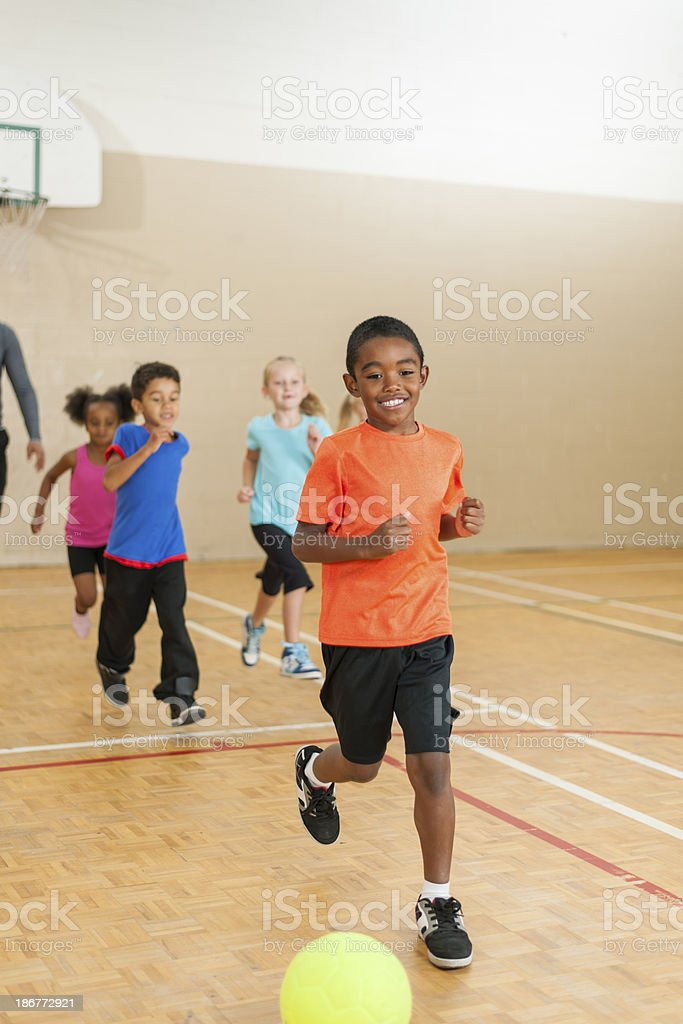 Elementary Gym Class royalty-free stock photo