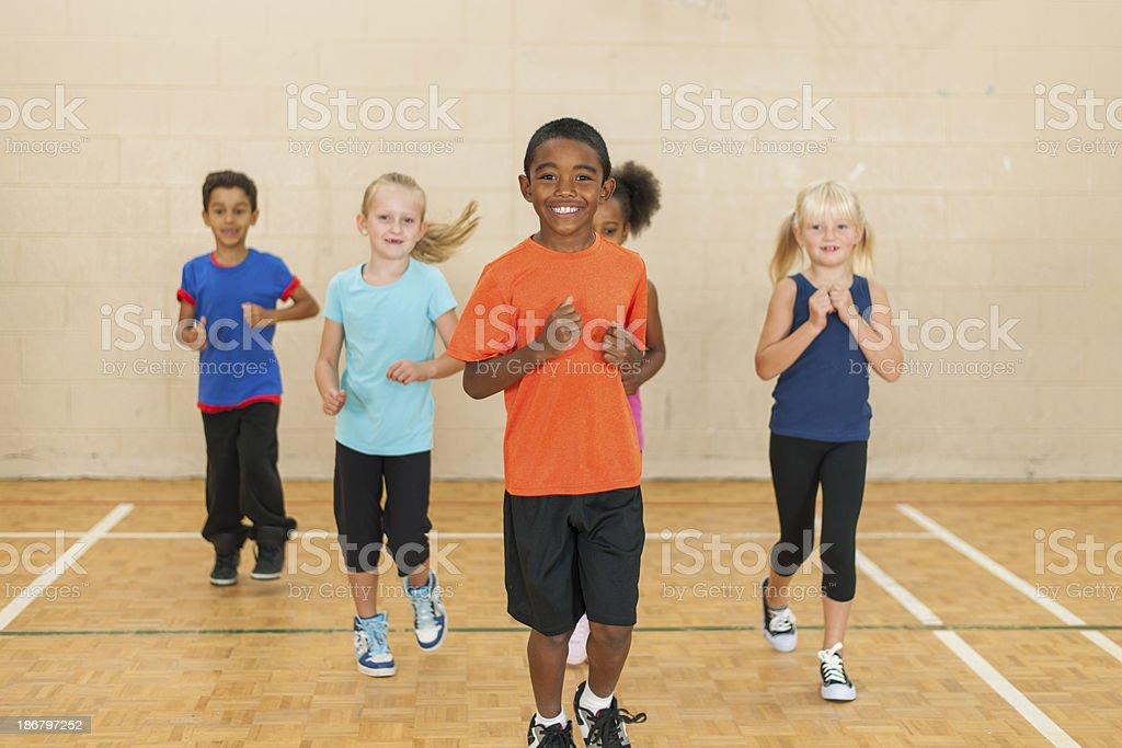 Elementary Gym Class stock photo