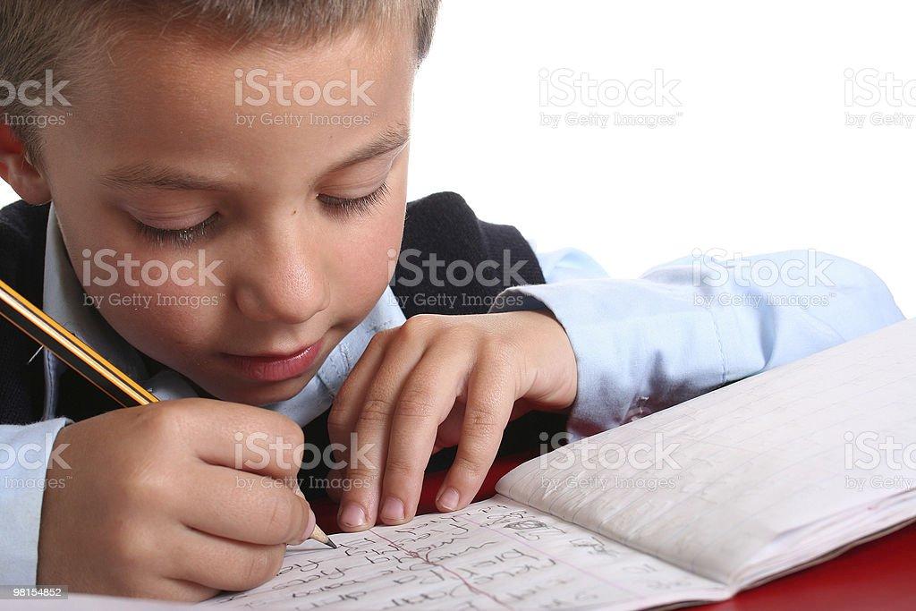 Elementary / Primary School boy royalty-free stock photo