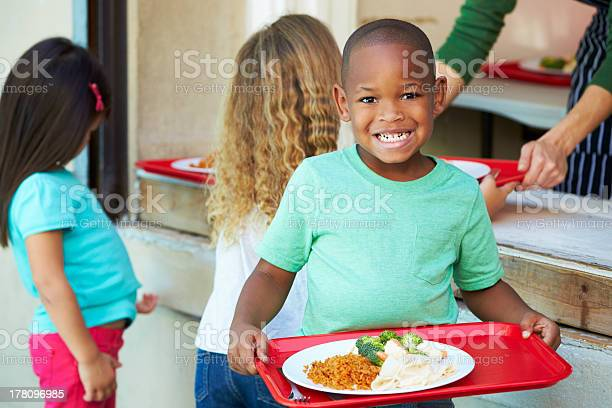 Elementary pupils collecting healthy lunch in cafeteria picture id178096985?b=1&k=6&m=178096985&s=612x612&h=8iqhhpvzm3yga56bqx k3mamhy 1audhfub5 ugobu8=