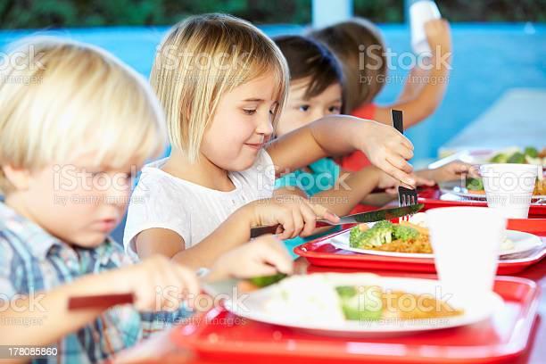 Elementary pupils enjoying healthy lunch in cafeteria picture id178085860?b=1&k=6&m=178085860&s=612x612&h=j7ew7gxi7lrlayoldrxjanobu3avvcifualnfybjtyo=