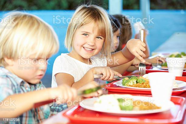 Elementary pupils enjoying healthy lunch in cafeteria picture id178107235?b=1&k=6&m=178107235&s=612x612&h=byyhw eitkcq6wbbffyiqibxt9rtyjgjrxk fopo lc=
