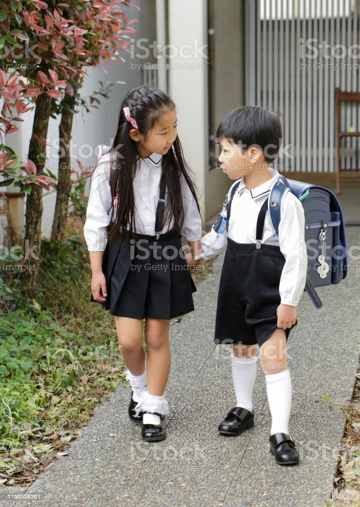 Elementary School Boy And Girl Stock Photo Download Image Now