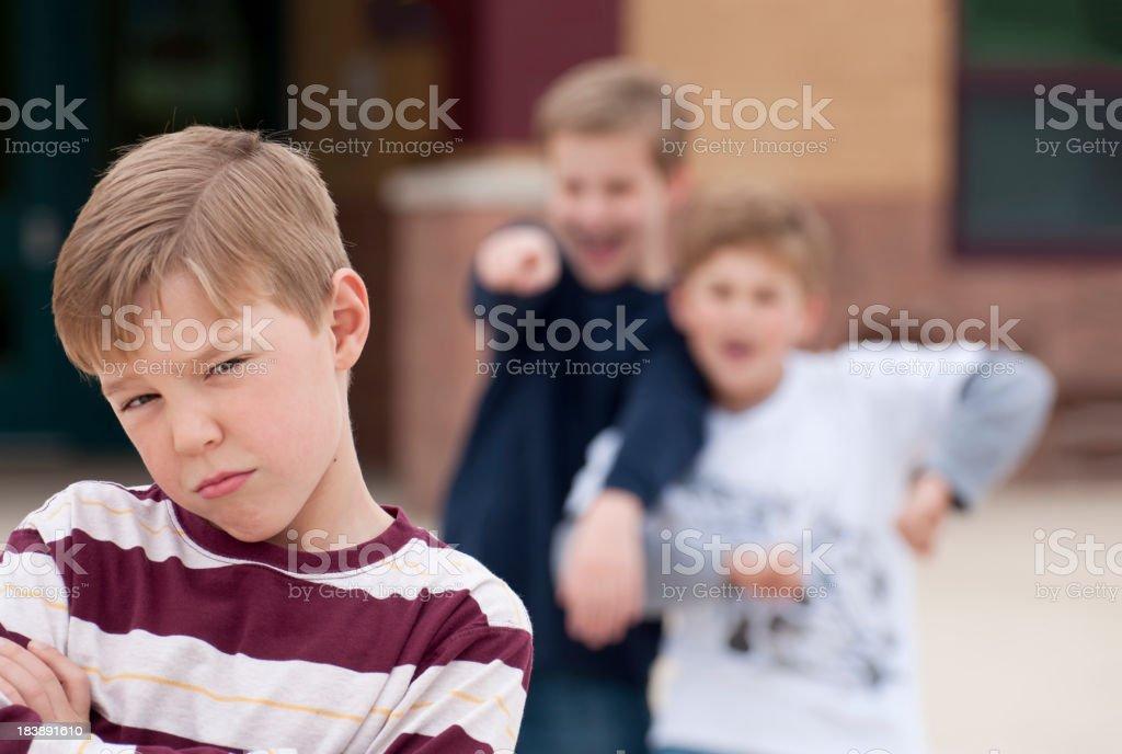 Elementary School Bullying royalty-free stock photo