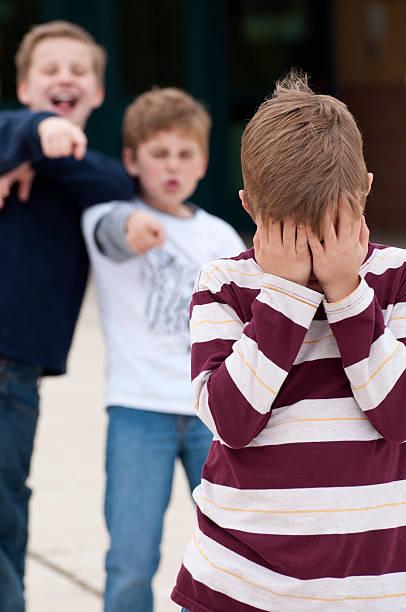 Elementary School Bullying Vertical stock photo
