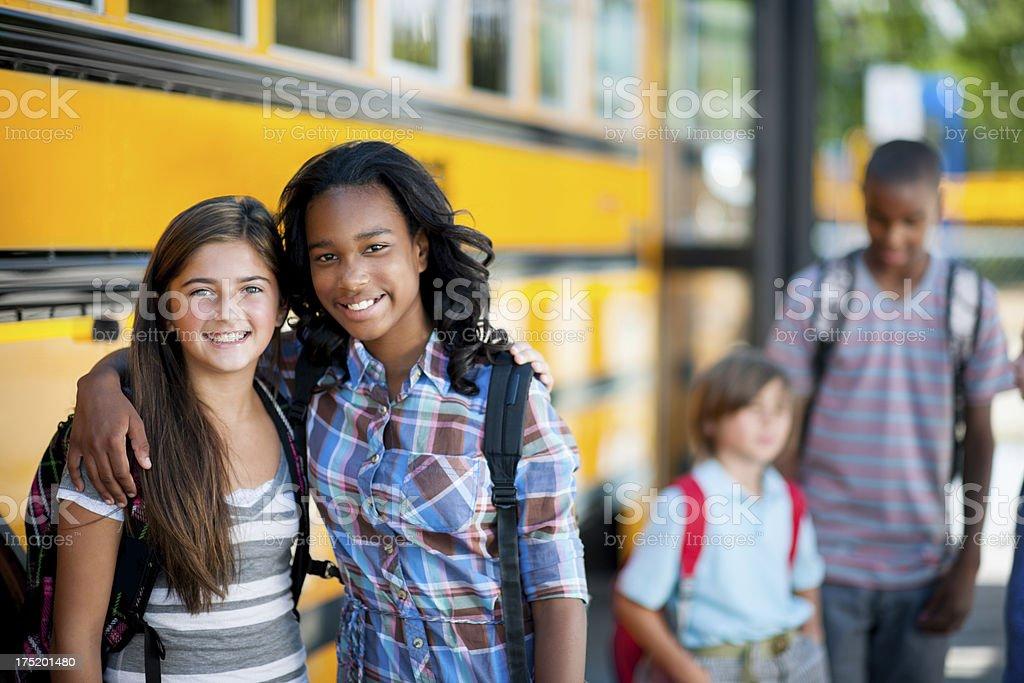 Elementary School Bus royalty-free stock photo