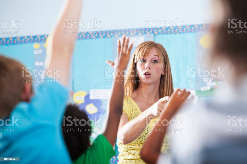 Elementary school class royalty-free stock photo