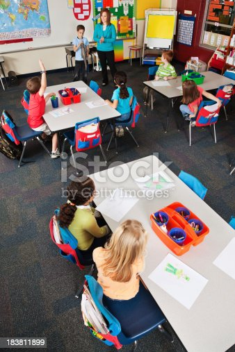 639569206 istock photo Elementary School Classroom During Show and Tell 183811899