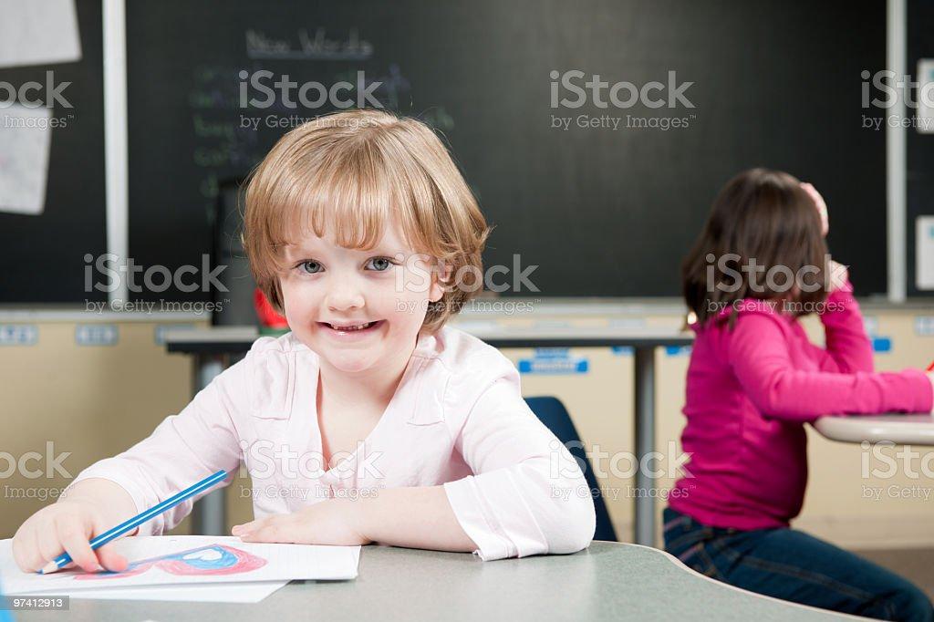 Elementary school classroom stock photo
