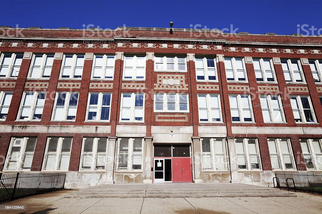 Elementary School in Albany Park, Chicago royalty-free stock photo