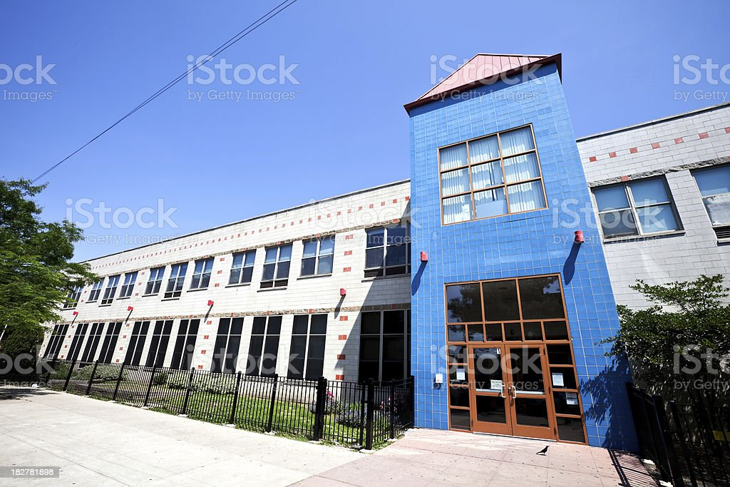 Elementary School in Avondale, Chicago royalty-free stock photo