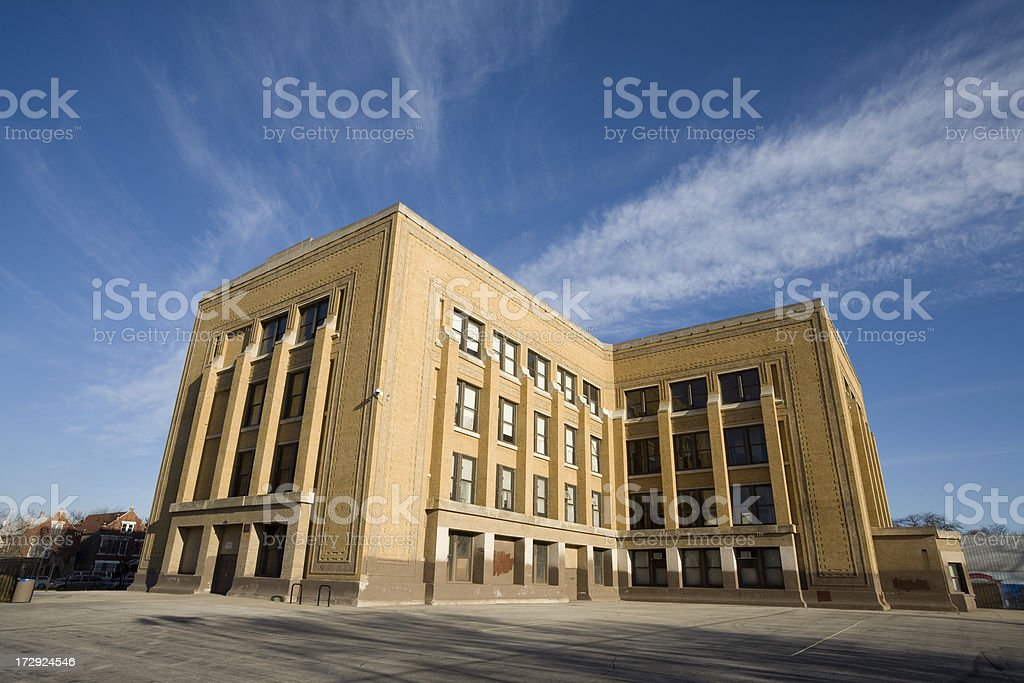 Elementary School in Chicago royalty-free stock photo