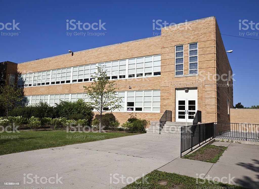 Elementary School in Clearing, Chicago royalty-free stock photo