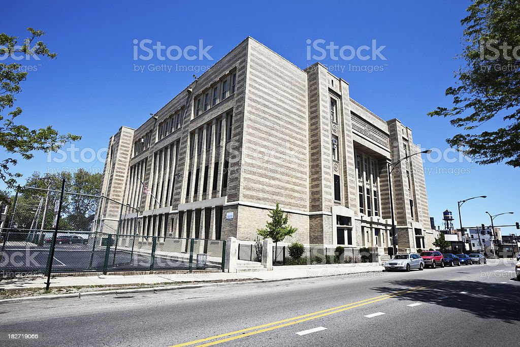 Elementary School in Edgewater, Chicago royalty-free stock photo