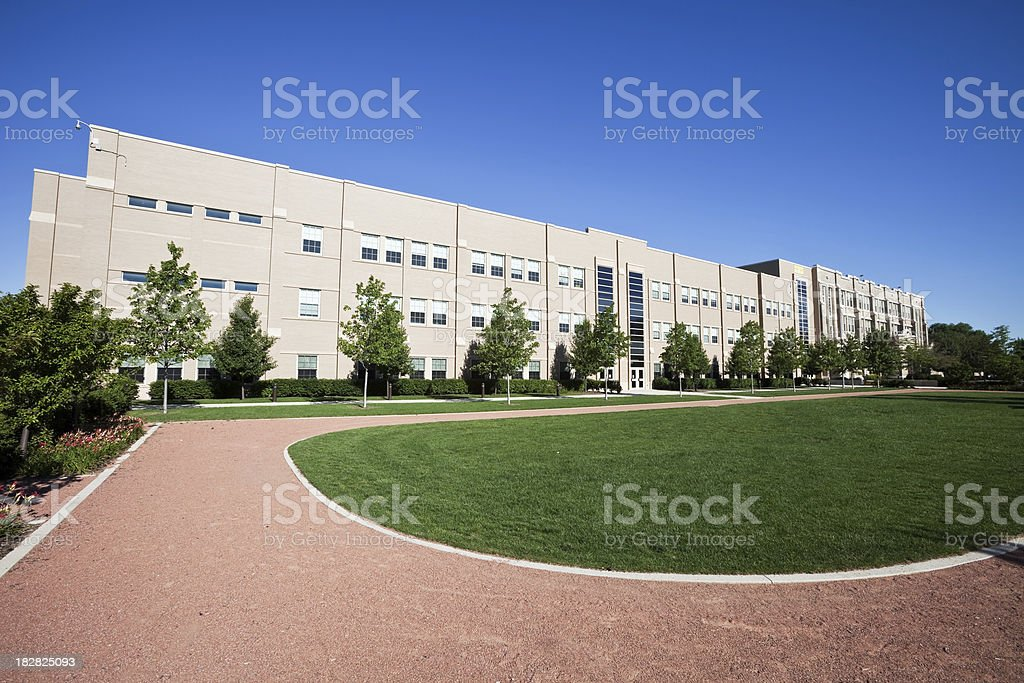 Elementary School in South Deering, Chicago royalty-free stock photo