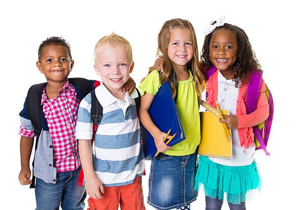 Elementary School Kids Group stock photo