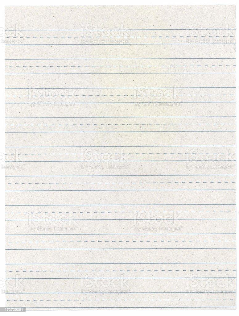 Grundschule Futter Schreiben auf Papier – Foto