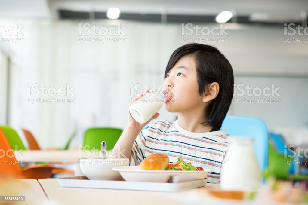 Elementary School Lunch Stock Photo - Download Image Now