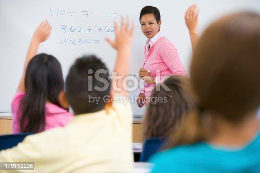1160928955 istock photo Elementary school maths class 179113206