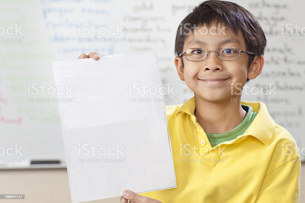 Elementary school student stock photo
