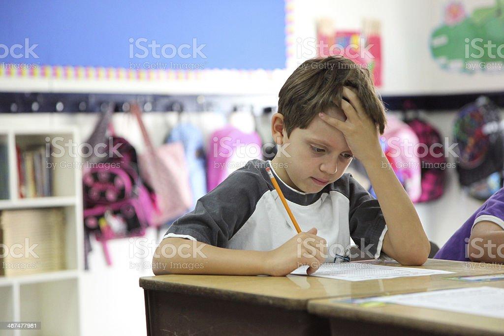 Elementary School Testing stock photo