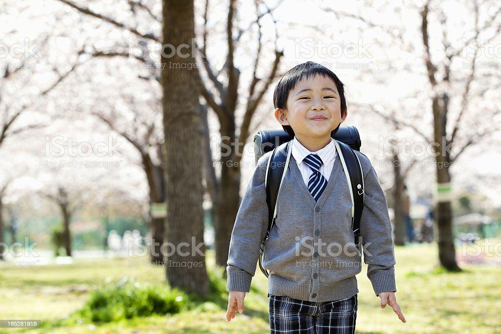 小学生のスクールボーイ ストックフォト