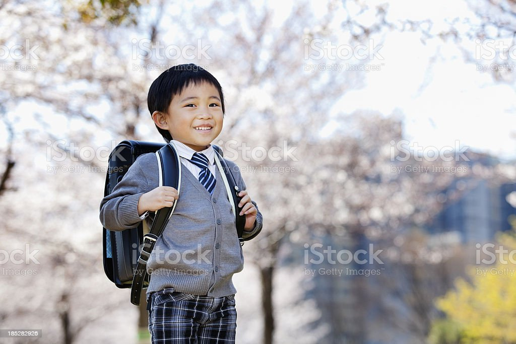 Elementary schoolboy stock photo
